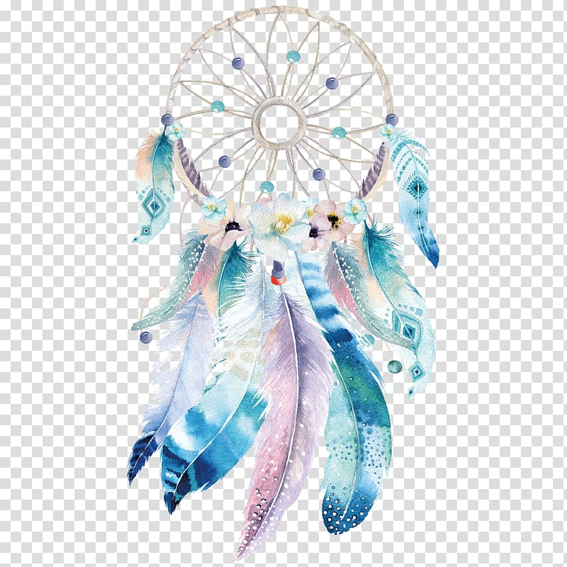 Dreamcatcher clipart boho chic. Multicolored dream catcher bohemianism