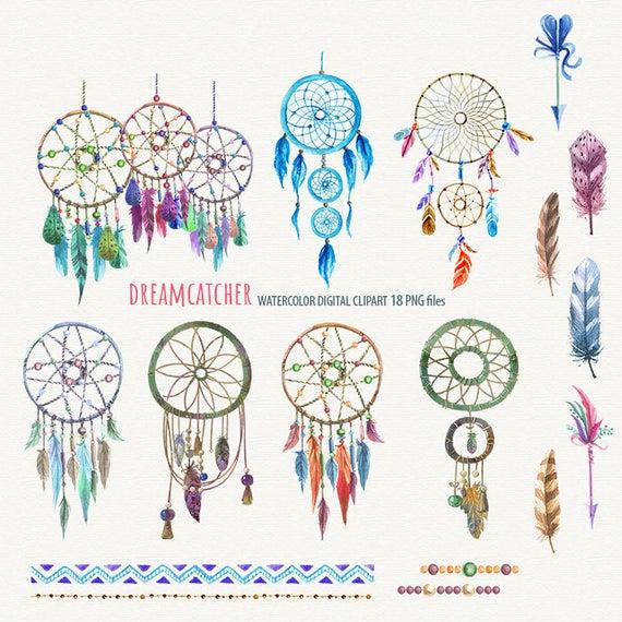 Printable tribal digital ethnic. Dreamcatcher clipart dream catcher