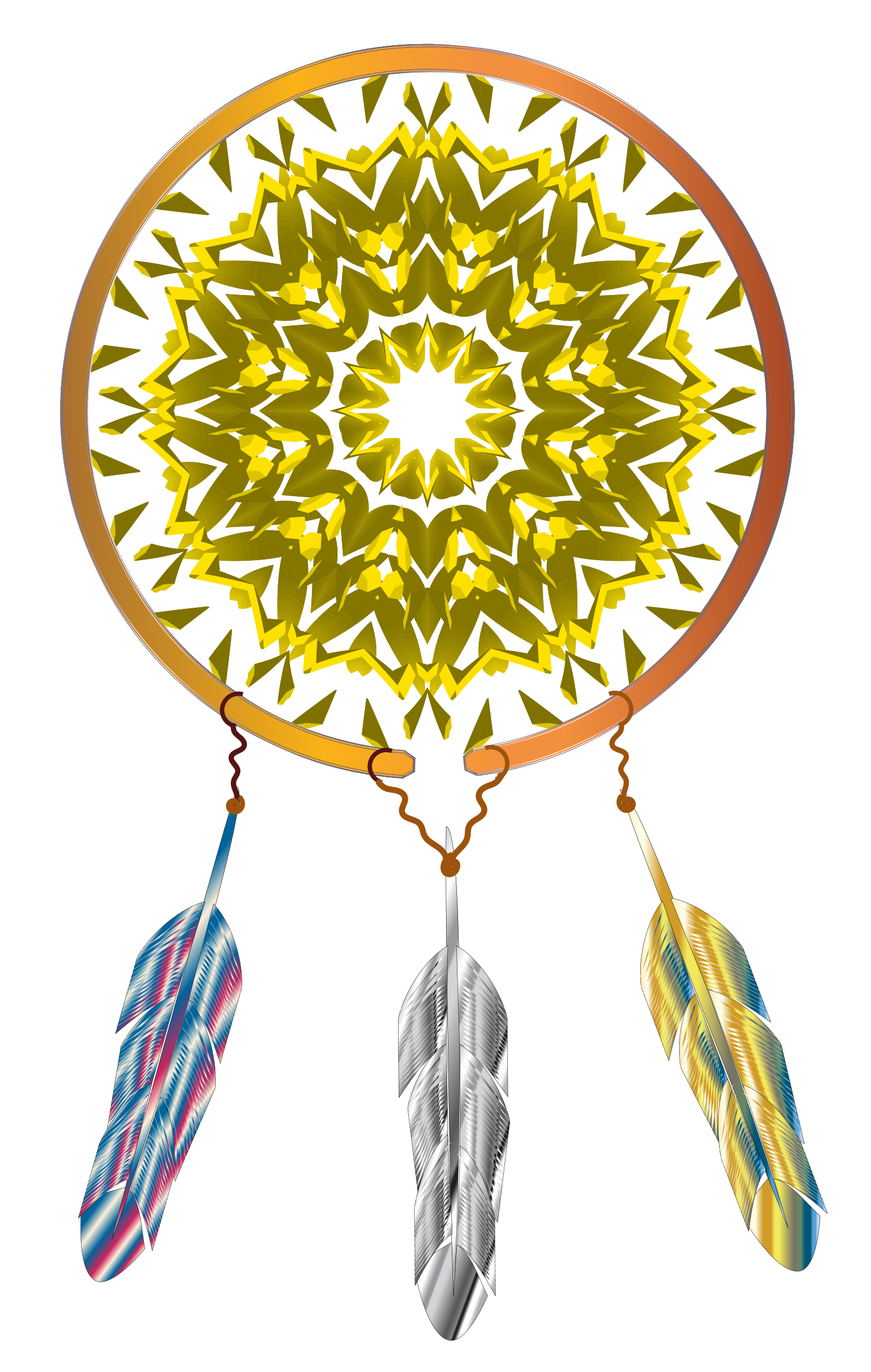 Dreamcatcher clipart gold.  collection of dream