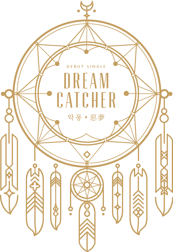 Kpop sticker by nu. Dreamcatcher clipart gold