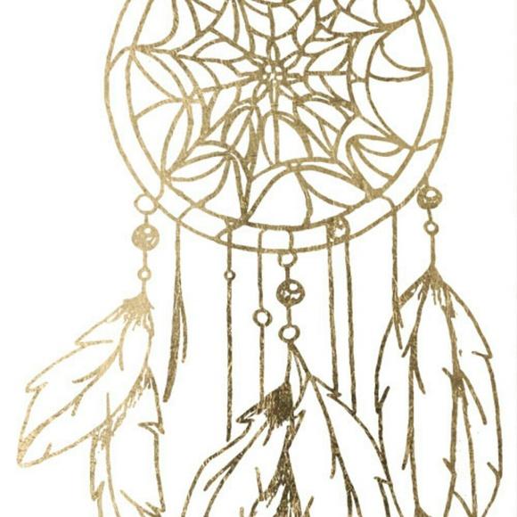 Tattoo . Dreamcatcher clipart gold