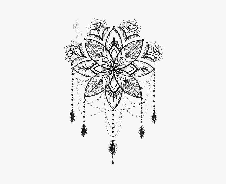 Dreamcatcher clipart mandala. Tattoo artist lotus print
