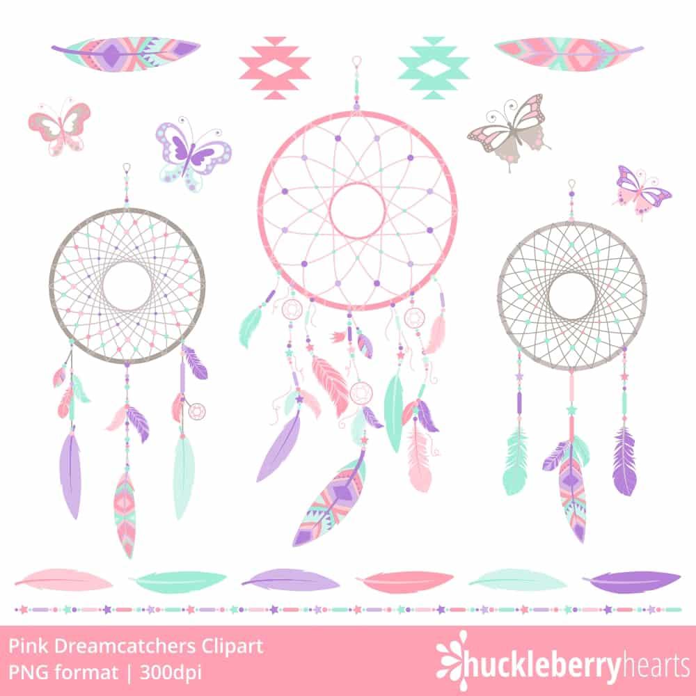 . Dreamcatcher clipart pink
