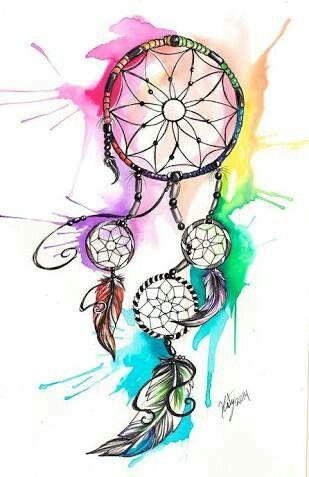 Dreamcatcher clipart rainbow. Watercolor dream catcher wallpaper