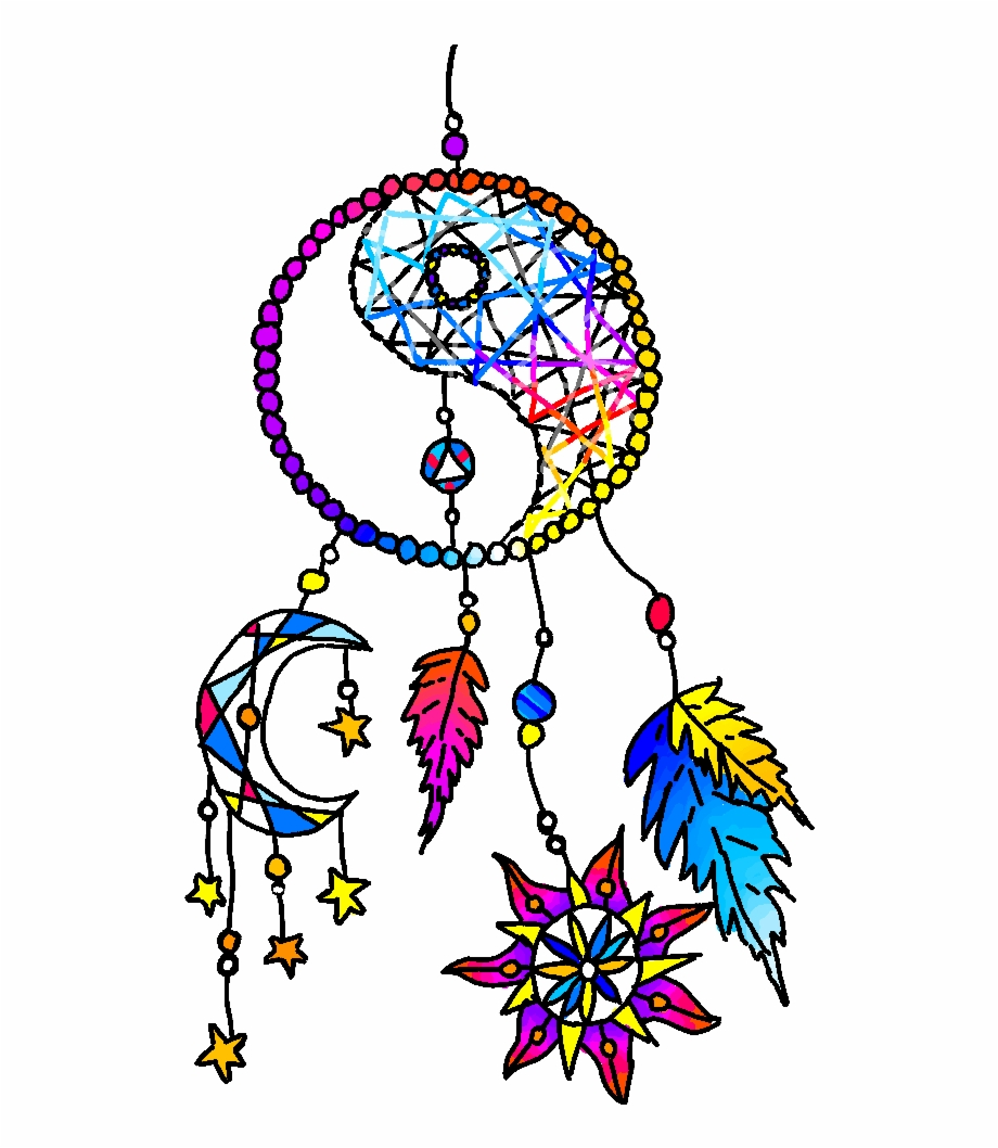 Dreamcatcher clipart rainbow. Drawing png download free