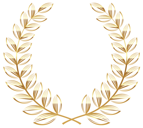 Greek clipart wreath. Golden transparent png picture