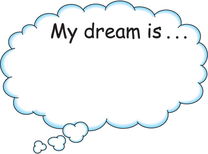 Dreaming clipart. Dream big pencil and