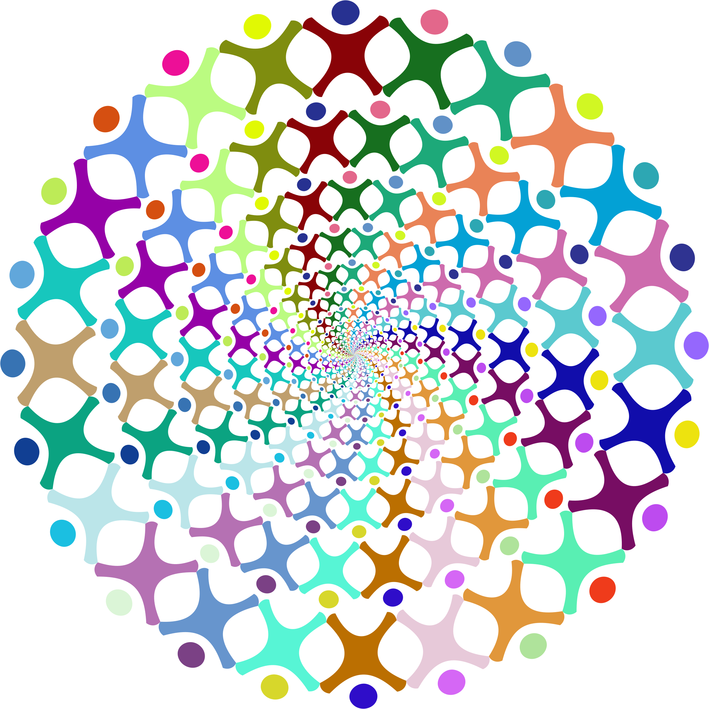 People vortex prismatic big. Dreaming clipart abstract