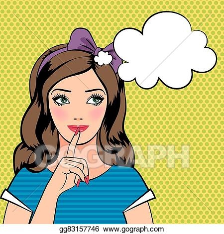 Clip art vector young. Dreaming clipart beautiful