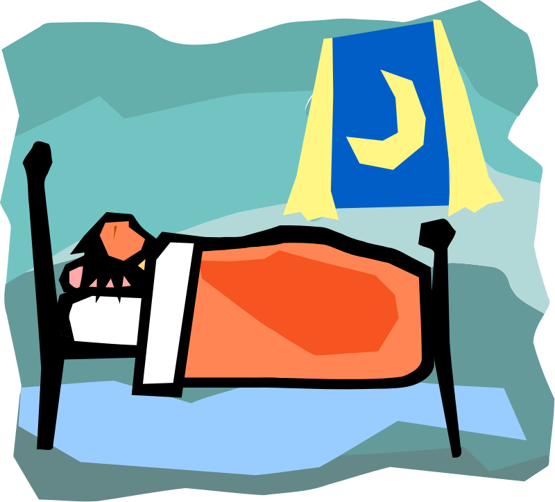 dreaming clipart bed