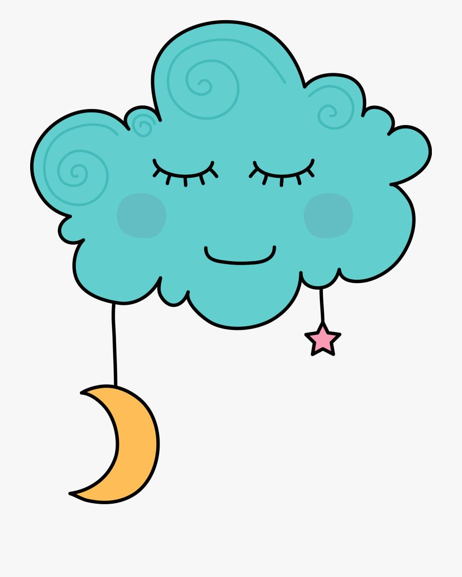 Cloud sleeping . Dreaming clipart cartoon
