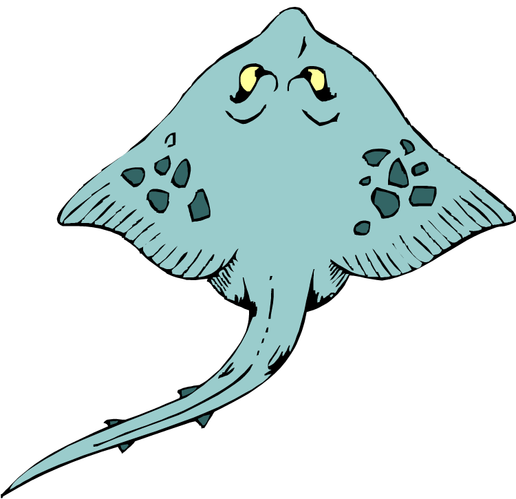 Dreaming clipart cute. Stingray many interesting cliparts
