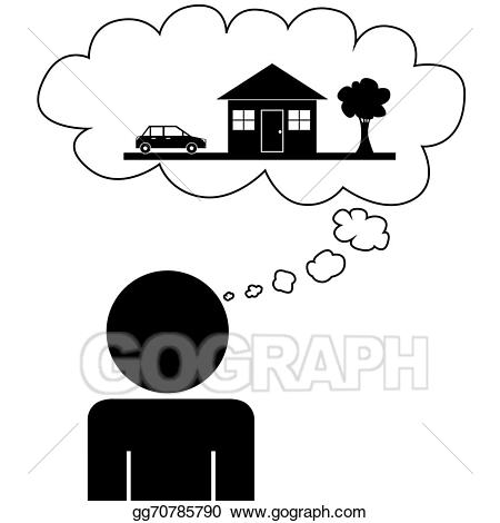 Vector art man dream. Dreaming clipart drawing