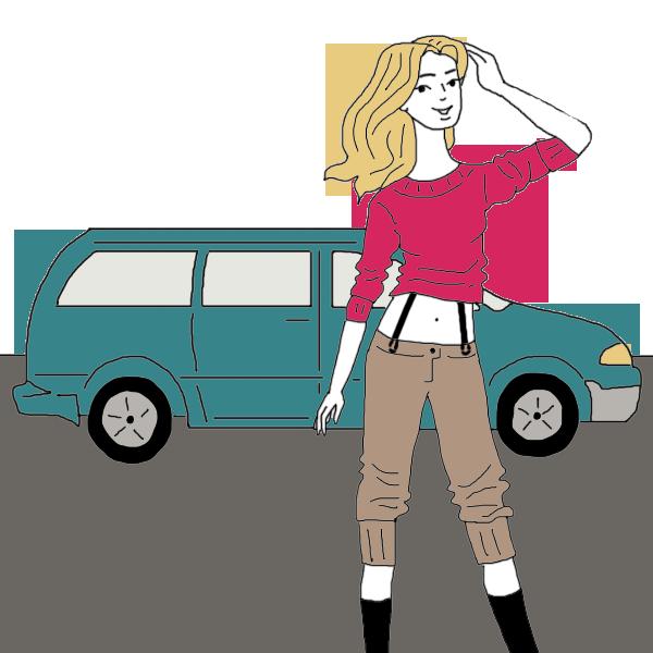 Mini van dream dictionary. Minivan clipart car ride
