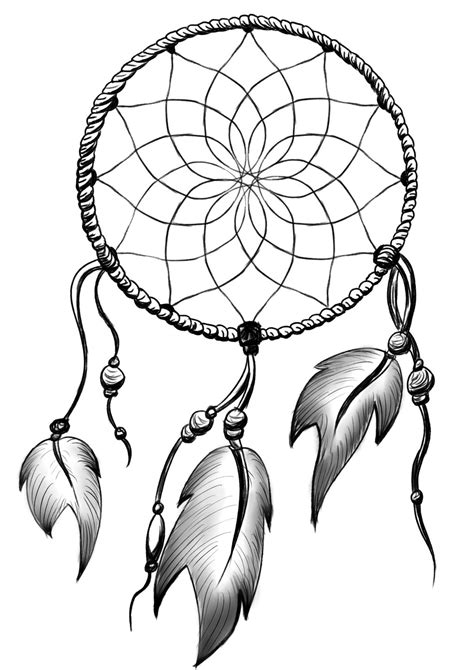Dreaming clipart simple. Dream catcher drawing black