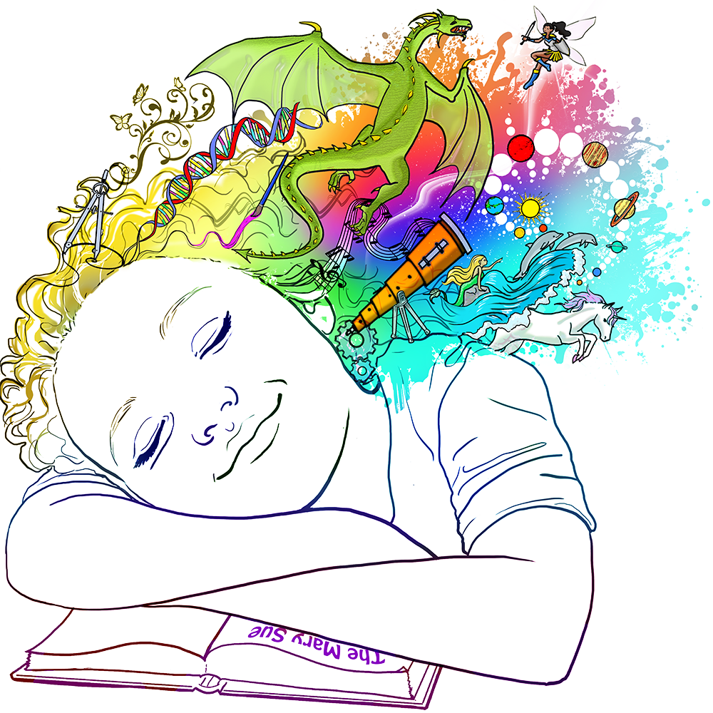 Dreaming clipart transparent. Meet the mary sue