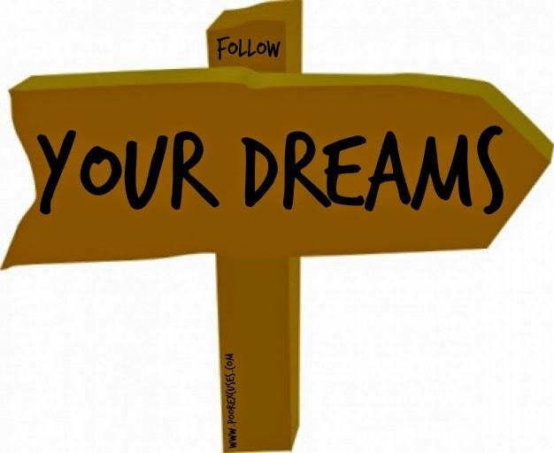 Clip art follow your. Dreams clipart