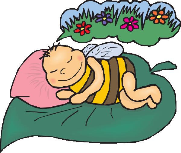 Dreams clipart. Dreaming bee clip art