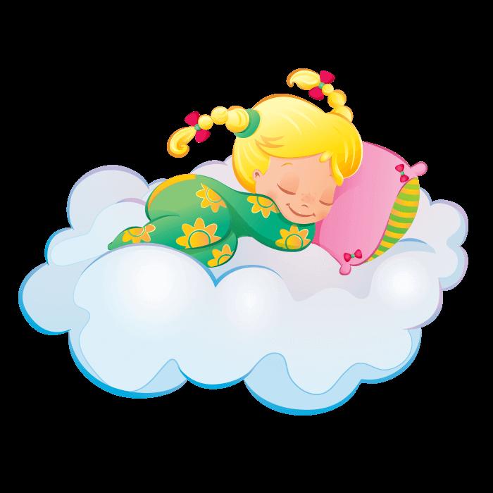 Moon and stars wallstickers. Night clipart sleepy child