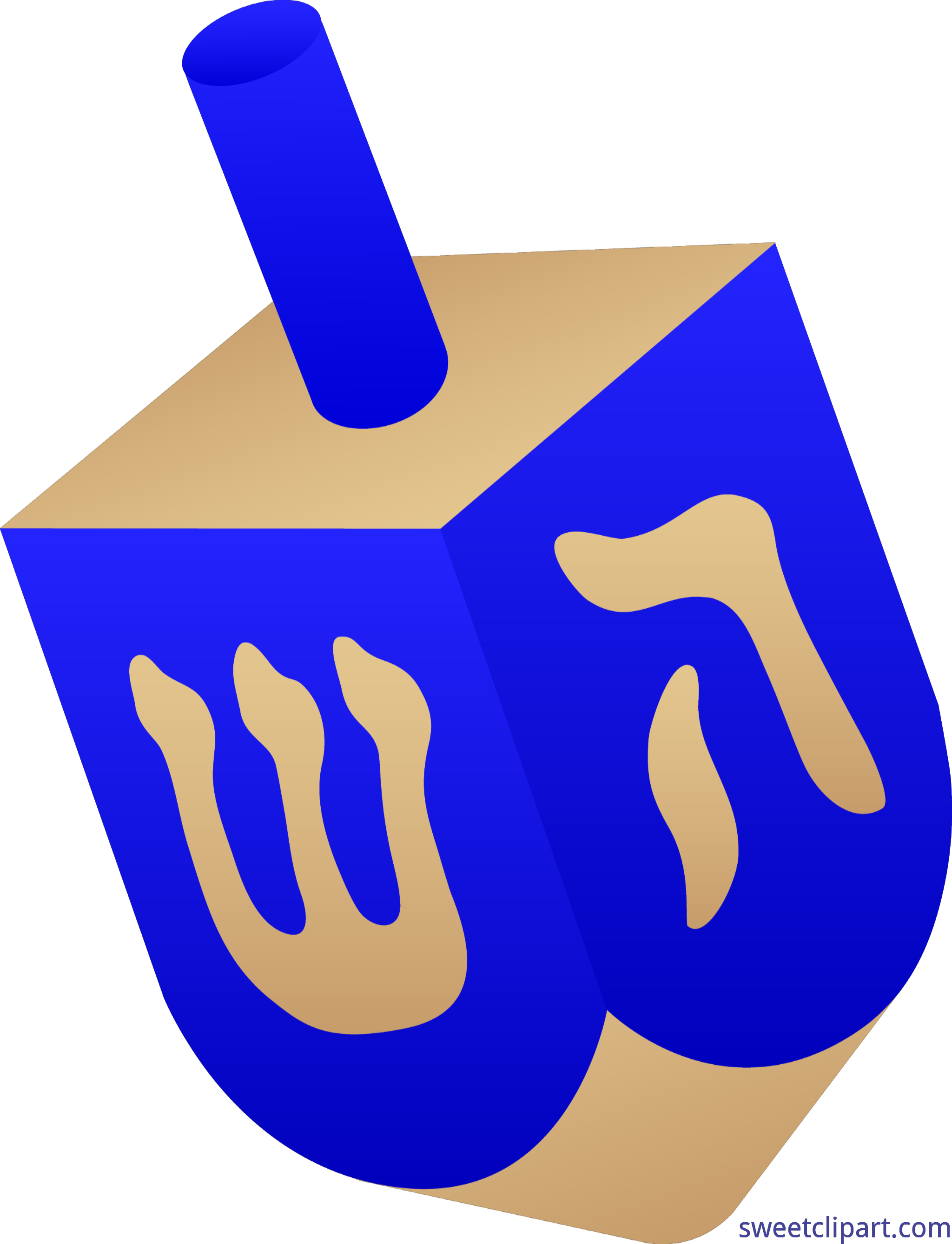 Dreidel clipart. Clip art sweet