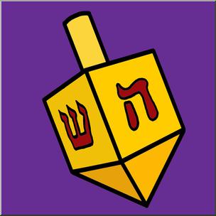 Clip art hanukkah color. Dreidel clipart