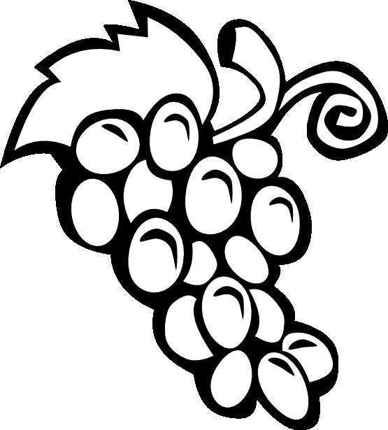 Clipartist net art gerald. Grape clipart buah buahan