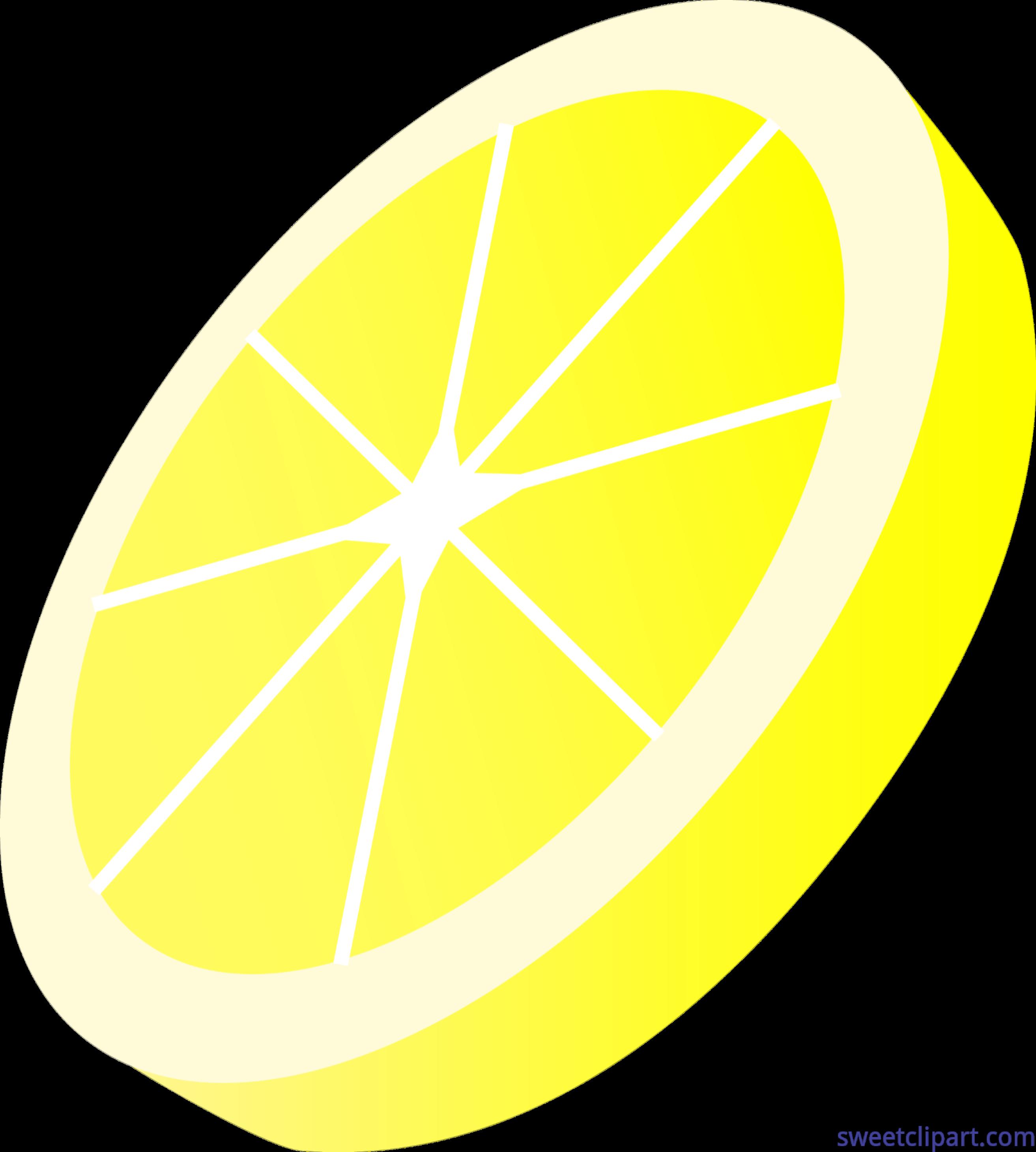 Lemons clipart sliced. Lemon slice clip art
