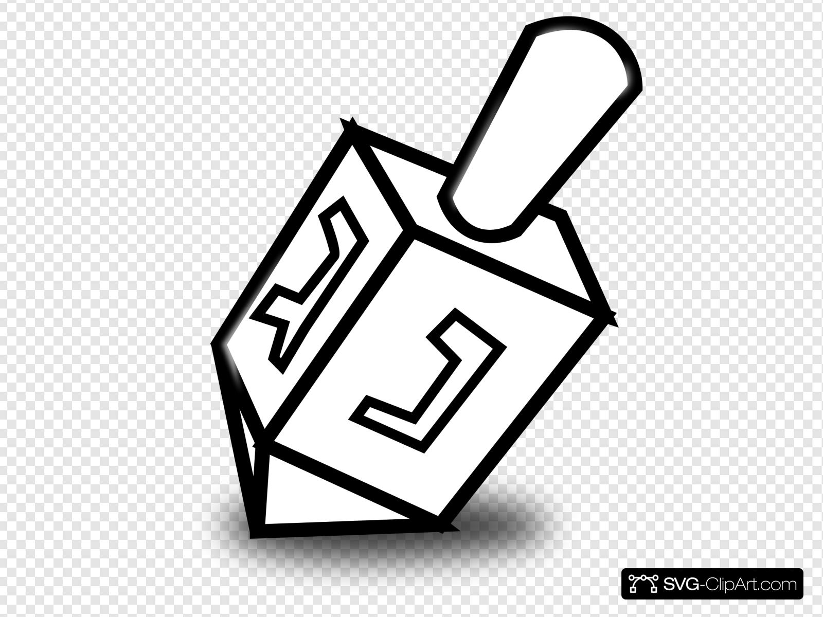 Dreidel clipart svg. Clip art icon and