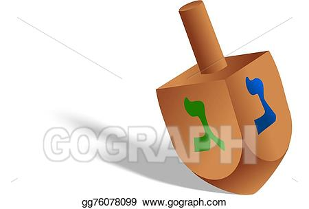 Clip art hanukkah stock. Dreidel clipart toy