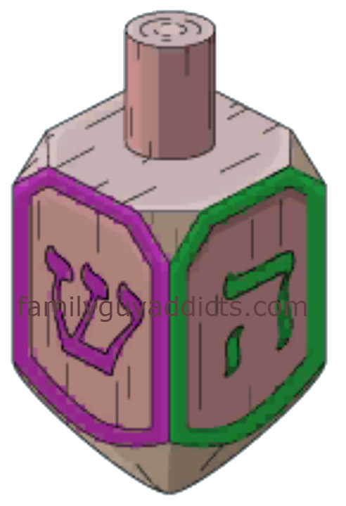 Silver gift clam box. Dreidel clipart toy