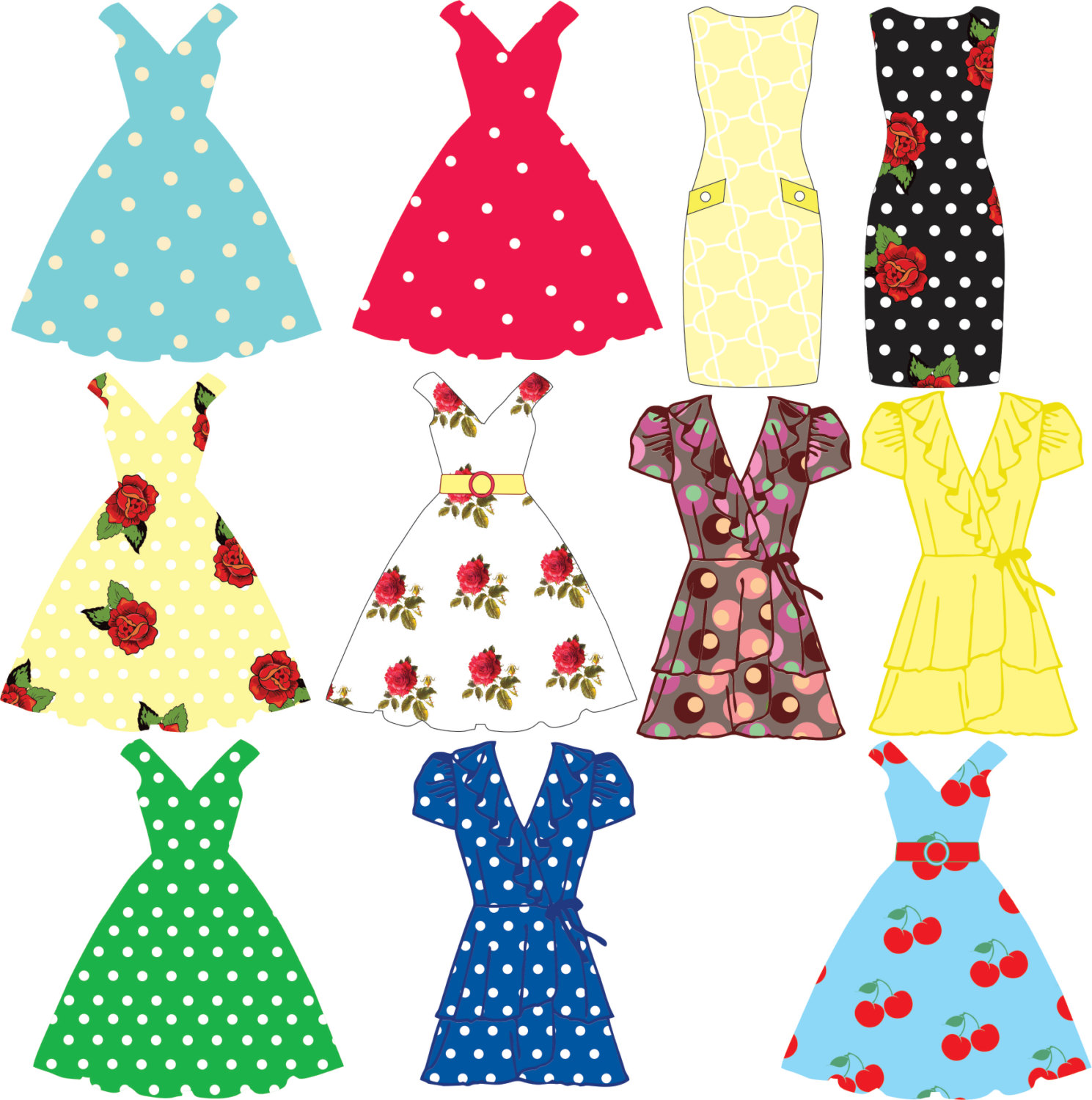 Clothing clipart women's clothing. Free dress cliparts download