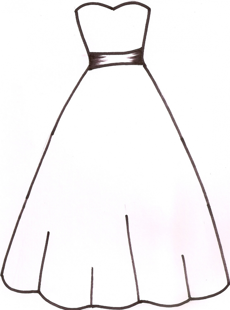 Outline . Dress clipart