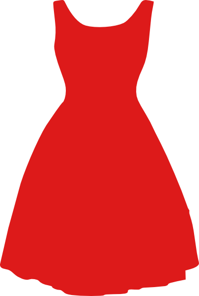 Dress clipart. Red transparent png stickpng
