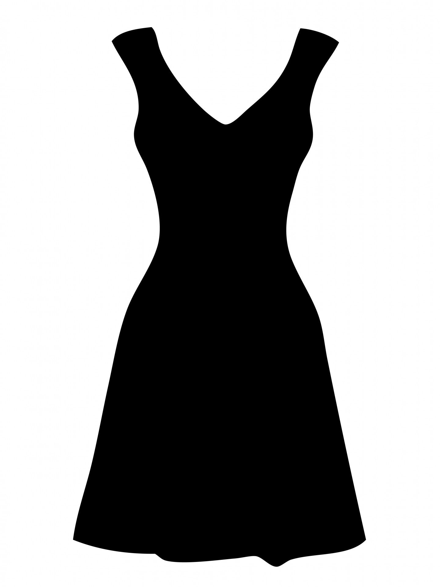 Free of dresses black. Dress clipart