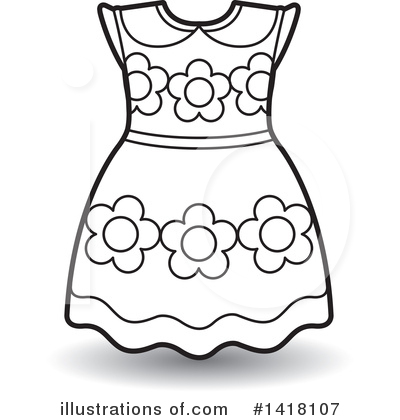 Dress clipart. Illustration by lal perera