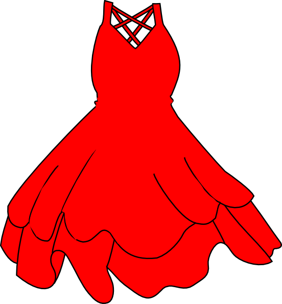 Red clip art at. Dress clipart animated