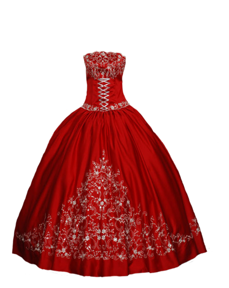 Red by pequesarah on. Dress clipart ball gown