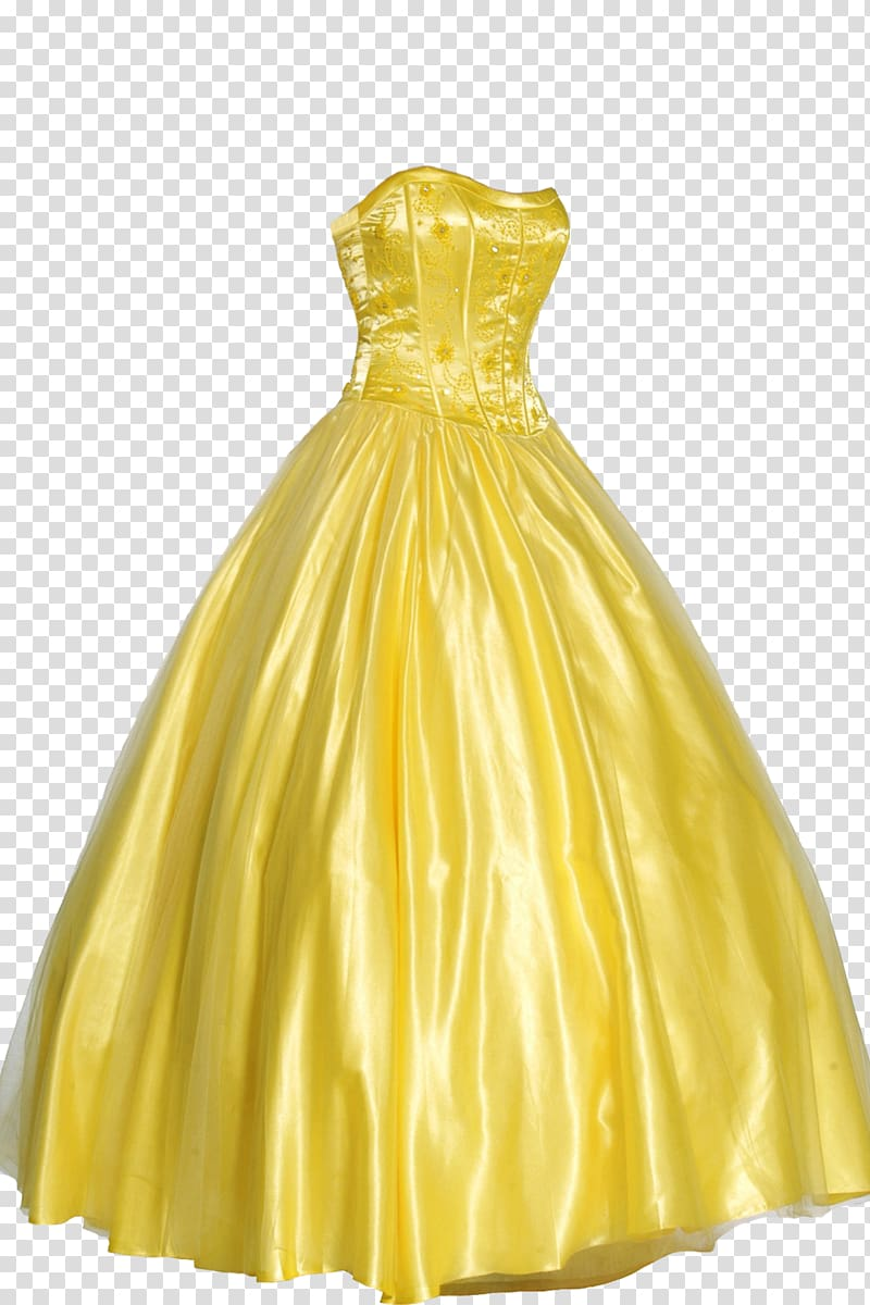 Prom formal wear yellow. Dress clipart ball gown