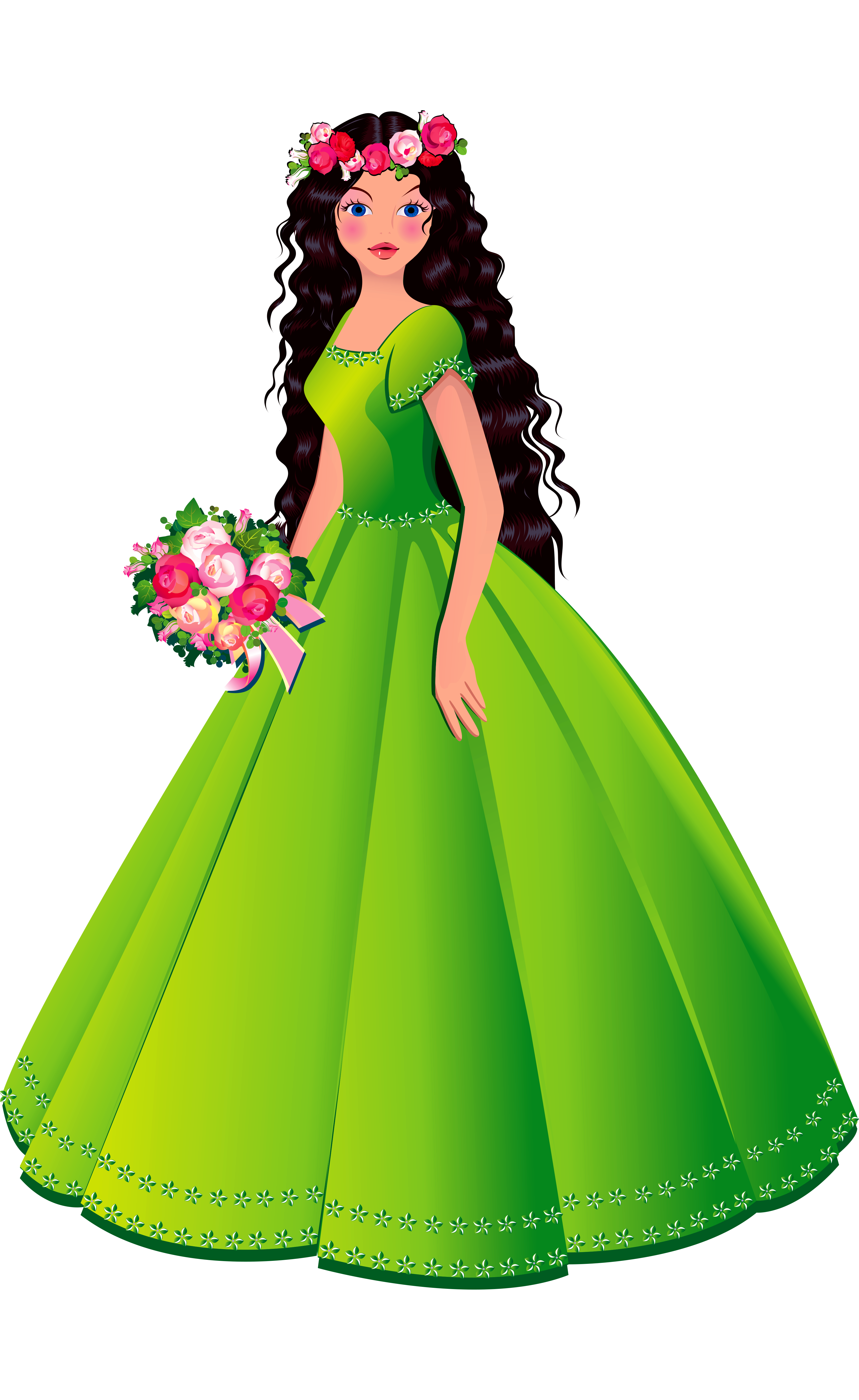 Princess dresses clip art. Dress clipart beautiful dress