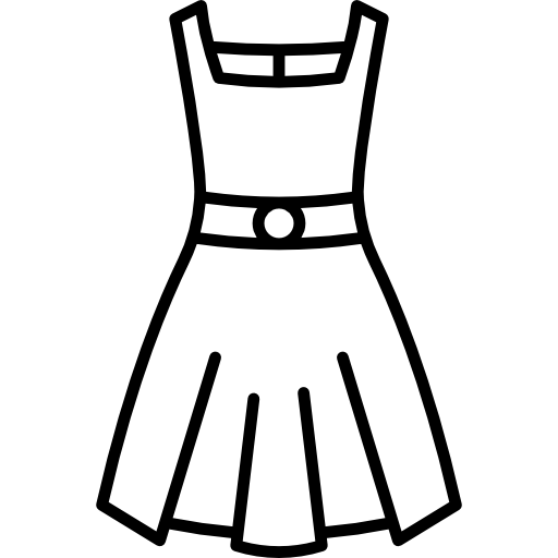 Dress clipart black and white. Free download best
