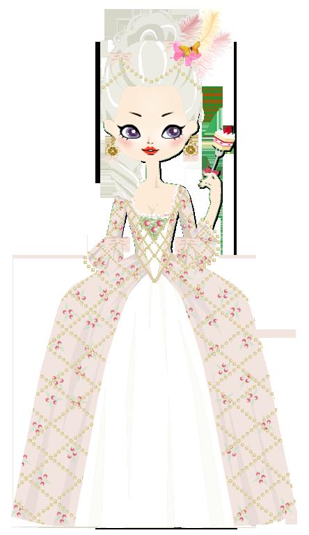 Marie antoinette by marasop. Dress clipart chemise