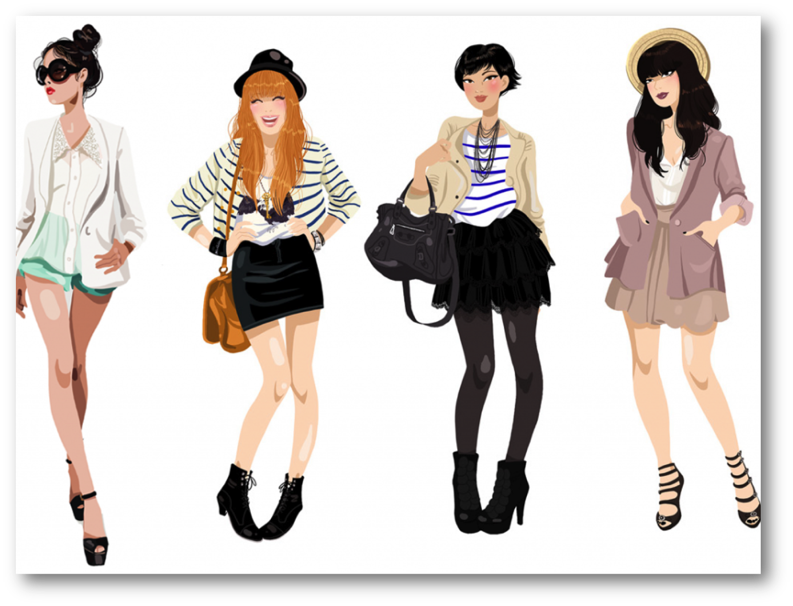 Bloggers are not stylists. Fashion clipart personal stylist