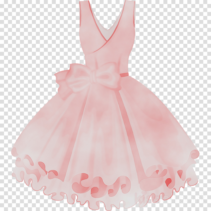 Baby cartoon clothing pink. Dress clipart cocktail dress