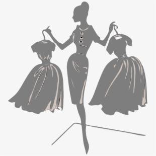 Dress clipart designer dress. Gown form fashion black
