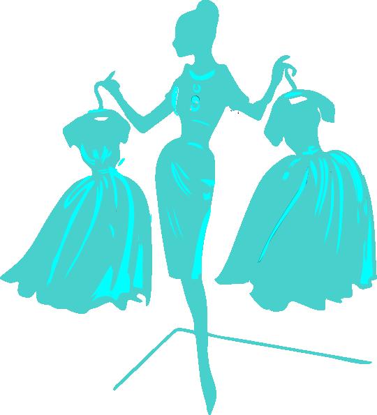 Blue woman clip art. Dress clipart designer dress