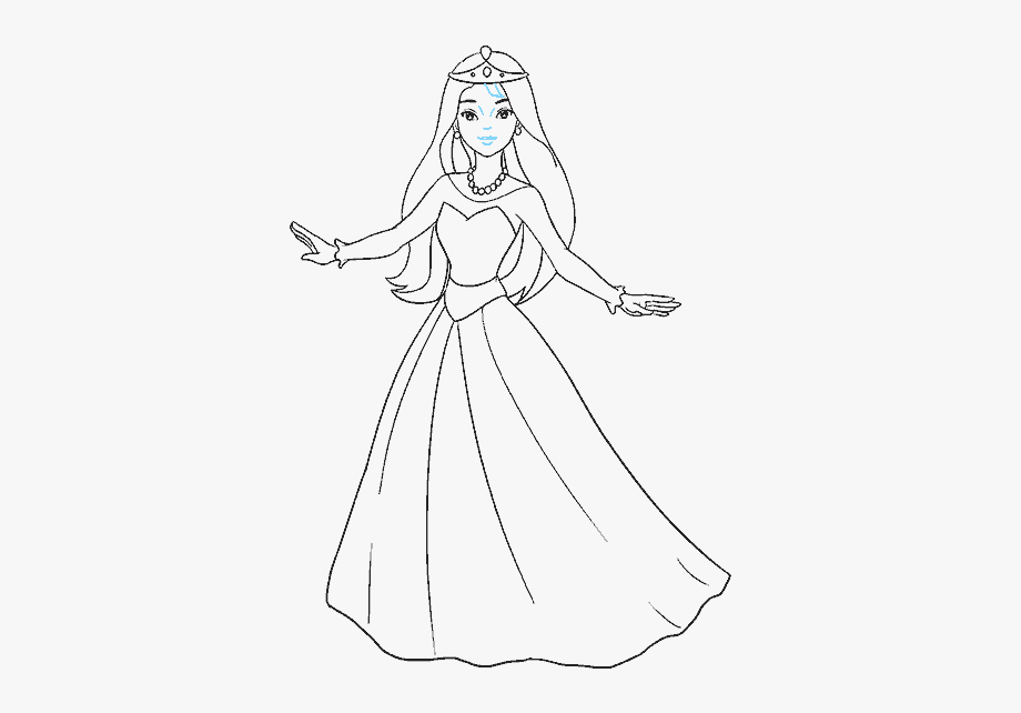 Dress clipart easy. Drawing of barbie free