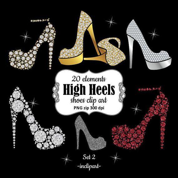 Fashion clipart fashion shoe. Ladies girls bridal high