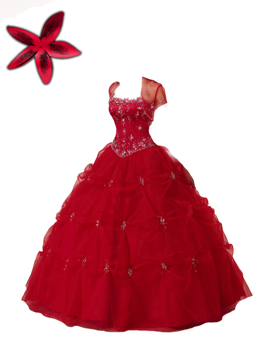 Dress clipart gown. Red dreess png by