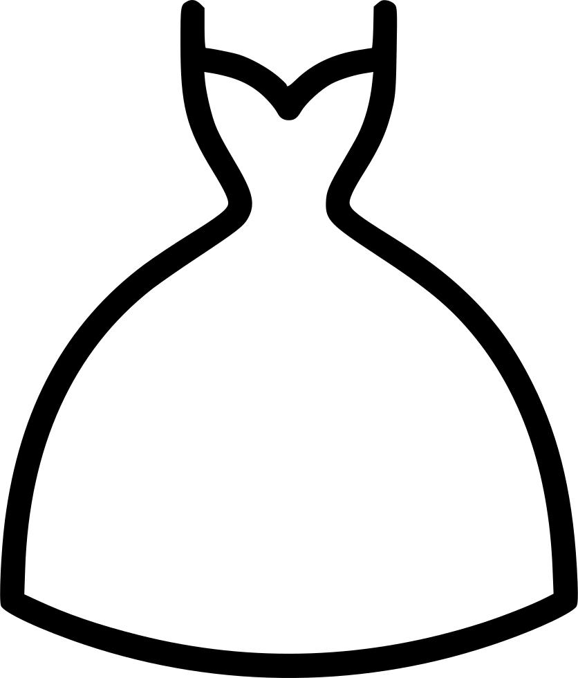Dress clipart icon. Girl women fashion garment
