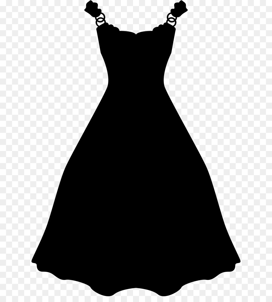 Wedding silhouette clothing black. Dress clipart kleid